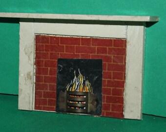 Vintage Dolls House Original Triang Fireplace