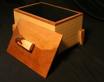 Lidded Box - Cherry, Poplar and Spalted Maple