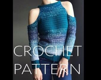 "BRYCE ""cold shoulder"" CROCHET PATTERN"