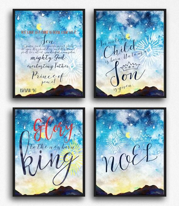 Christmas Wall Decor Printables : Items similar to christmas printable set decor