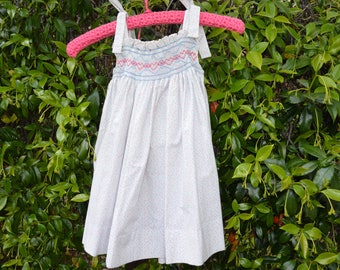 Smocked sundress for toddler
