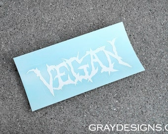 Vegan Vinyl Transfer Decal (White)