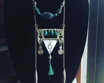 Upcycled Isis Goddess Necklace