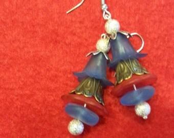 Bell flower floral earrings