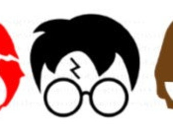 Harry Potter trio, Ron, Hermione, Harry SVG, PNG, JPG