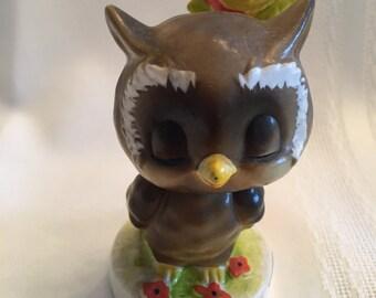 Josef Originals Owl and Sun Bobblehead / Dreamin' of You