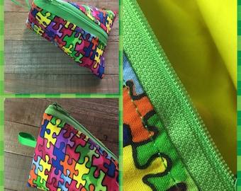 Puzzle pieces pouch