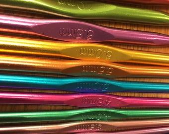 Aluminum Crochet Hooks Set of 12