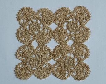 20% Discount - New beige handmade crochet doily / Lace doily / Table mat / Mug rug / Center piece