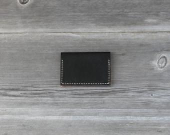 Leather Folded Card Case // Black
