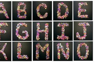 Art letters, alphabet letters, Picture letters, Photography letters, five letters