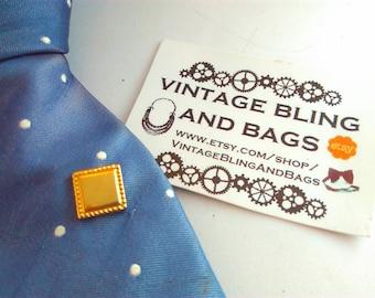Sarah Coventry Vintage tie tack, vintage tie tack, vintage tie pin, tie tack,  bridegroom, Sarah Coventry, square tie tack, vintage tie tack