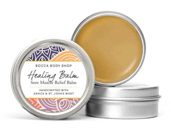 Healing Balm, Sore Muscle Relief Balm, Arnica Healing Balm, Arnica Salve, Muscle Mend Healing Ointment, Pain Relief Muscle Rescue Balm