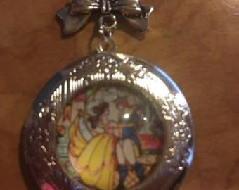 Beauty and the beast chain with locket