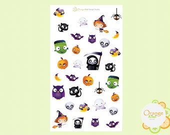 Halloween Planner Stickers, Halloween Scrapbooking Stickers, Erin Condren Life Planner, Happy Planner