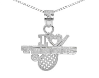 10k White Gold Tennis Necklace
