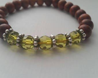 Wood and Olive Bracelet