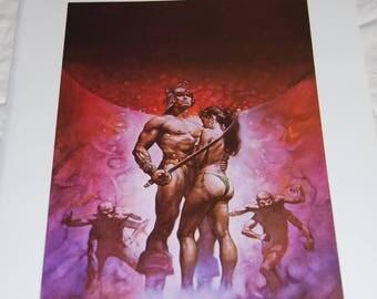Boris Vallejo Print - A Guide to Barsoom - 1976