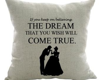 CINDERELLA Pillow Cover/Disney Pillow cover/Kids Pillow