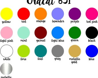 Oracal 651 5 Sheet Bundle Pack (12x12 sheets)