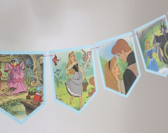 Disney's Sleeping Beauty - Recycled Book Bunting - Nursery or Party Decoration
