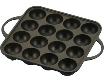 Takoyaki Maker Pan- Takoyake Untensils -たこ焼き Mold - Frying Pan for Takoyaki