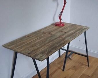 Handmade Reclaimed Wooden Desk 120cm