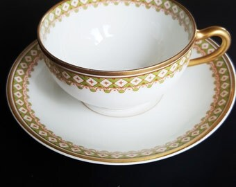 Theodor Haviland, Limoges, Teacup with  saucer, Vintage Limoges, Haviland, Teacup and Saucer