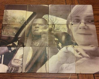 Personalized Large Wood Puzzle Mural pieces