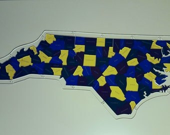 North Carolina Counties Puzzle Map