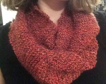 Alpaca Wool Hand-Knitted Infinity Scarf