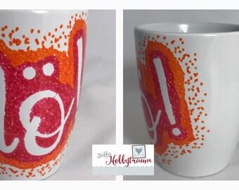 hand-painted Cup, coffee cup, Coffecup, coffee mug