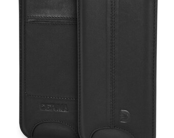 iPhone 7 Case, iPhone 6s / 6 Leather Sleeve, Natural Nappa Leather Pouch - DETUMA® Talha Roys Black