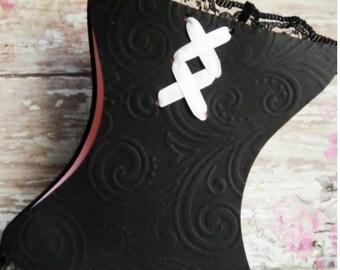 Corsets, corset, wedding invitations, Bachelorette, Bachelorette party invitations, handmade, invites,