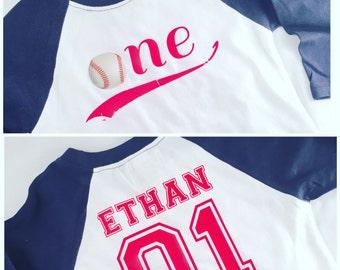 Baseball Birthday Shirt, Baseball Birthday Raglan, Vintage Baseball, Baseball Theme Birthday