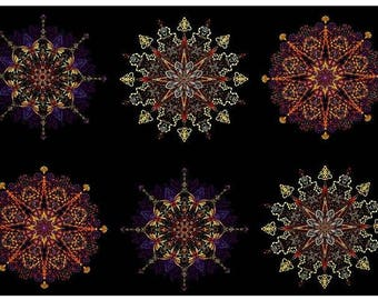 Benartex - Kismet - Purple - Manadals - by Paula Nadlestern - Panel