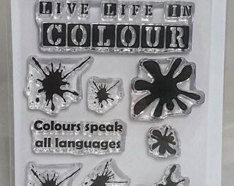 Colour Splash - A7 Stamp Set by Imagine Design Create