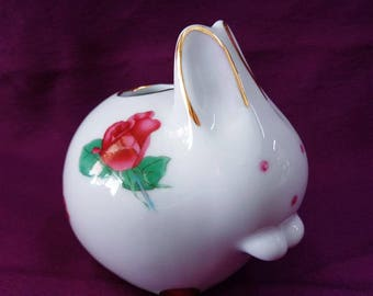 Vintage Japanese porcelain Rabbit Toothpick Holder