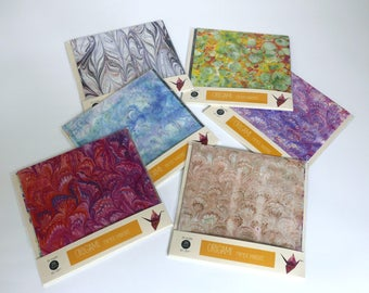 Origami paper with marbled patterns - 20x20cm - 25 sheets