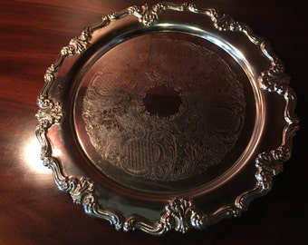 Vintage F.B. Rogers Silver Plate Serving Tray