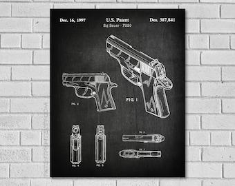 Sig P220 Patent Print  - - Sig Sauer Art - Sig Sauer Decor - Gun Patent - Sig Sauer Poster - Gun Blueprint - Police Gun - Patent Art G841