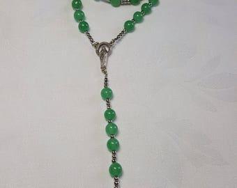 SOLD: Rosary semi-precious, aventurine