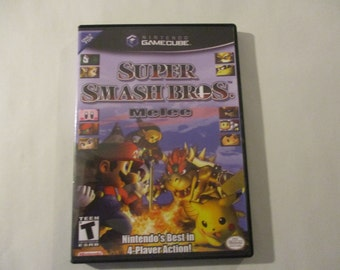 Super Smash Bros. Melee Custom Gamecube Case (***NO GAME***)