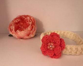 Crochet Flower Headband for Babies