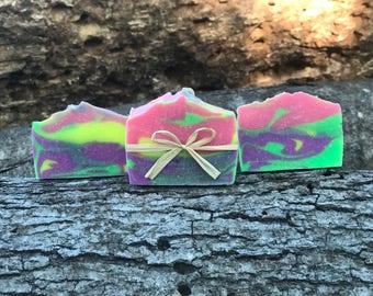 Tie-Dye Ylang Ylang and Lavender Soap ~ Palm Free Soap ~ Natural Soap