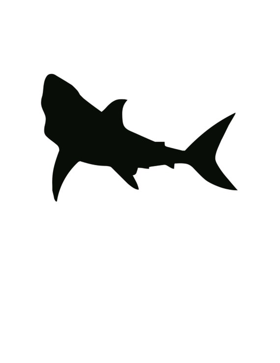 Pack Of 3 Shark Stencils Made From 4 Ply Mat Board 11x14