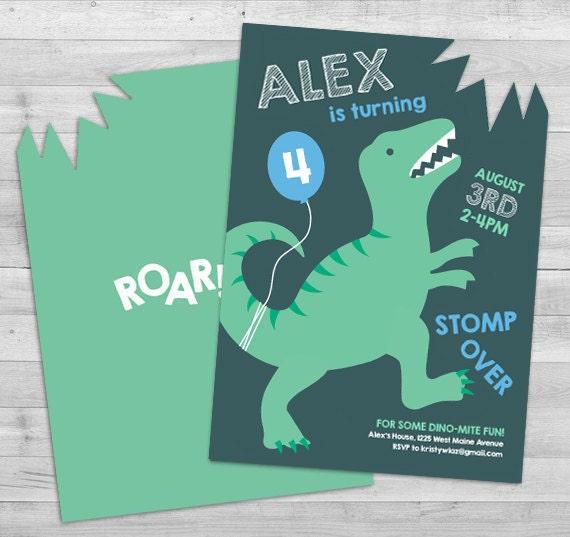 dinosaurier dinosaurier geburtstagseinladung einladung boy, Einladungen