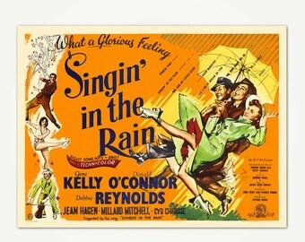 Singin' In The Rain Lobby Card Print - Movie Poster Art Print