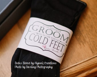 "Groom ""Cold Feet"" Socks Printable Label - To My Handsome Groom Just In Case You Get Cold Feet Love Your Bride"