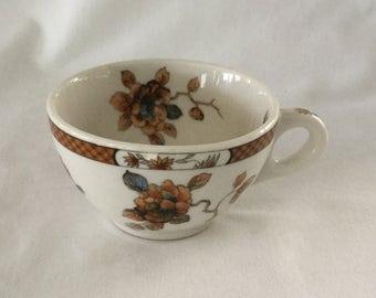 Vintage O P Co Syracuse China Restaurantware Railroad Floral Coffee Cup